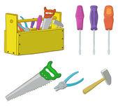 Tools, set — Stock Vector