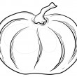 Stock Photo: Pumpkin, contours