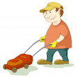 Royalty-Free Stock Photo: Lawn mower man