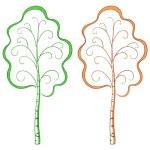 Trees, pictograms — Stock Photo #5992940