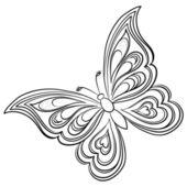Mariposa, contornos — Vector de stock