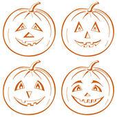 Pumpkin Jack O Lantern — Stock Vector