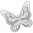 Stock Vector: Butterfly, contours