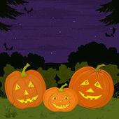 Halloween pumpkins family — Stock Vector