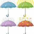 Umbrellas, set — Stock Vector