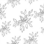Blomma bakgrund, konturer — Stockvektor