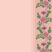 Background, frame of flowers — Vector de stock