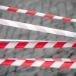 Royalty-Free Stock Photo: Red and white striped tapes