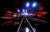 ライトと鉄道 — ストック写真