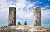 Concrete pier with columns — Stock Photo