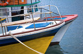 Colorful pleasure boats — Stock Photo