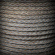 Stock Photo: Steel rope texture