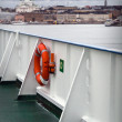 Stock Photo: Ferry railings with lifebuoy