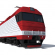 Modern electric locomotive — Stock Photo #5428586