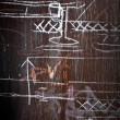 Chalky technical drawings - Stock Photo