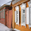 Russian wooden houses — Stockfoto