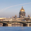 Neva river with Isaakievsky Cathedral — Stock Photo