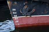 Bow of the cargo ship — Stock Photo