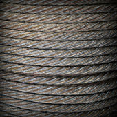 Steel rope texture — Stock Photo