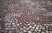 Granite cobblestone road — Stock Photo