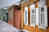 Russian wooden houses — Stock Photo