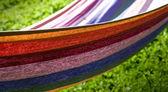Colorful hammock — Stock Photo