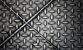 Texture of diamond steel plate with joints — Stock Photo