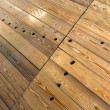 Wet wooden floor — Stock Photo