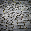 Round cobblestone pavement background — Stock Photo #5867680