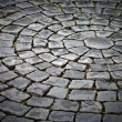 Royalty-Free Stock Photo: Round cobblestone pavement background