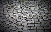 Round cobblestone pavement background — Stock Photo