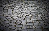 Round cobblestone pavement background — Stock Photo