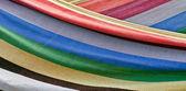 カラフルな縞模様の織物 — ストック写真