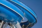 Blue aqua-park slide — Stock Photo