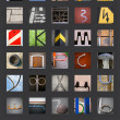 Abstract Cyrillic Russian alphabet — Foto de Stock
