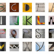 Uncommon abstract English alphabet — Foto de Stock