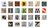 Uncommon abstract English alphabet — Stock Photo