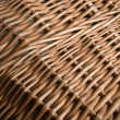 Wicker basket  section — Stock Photo