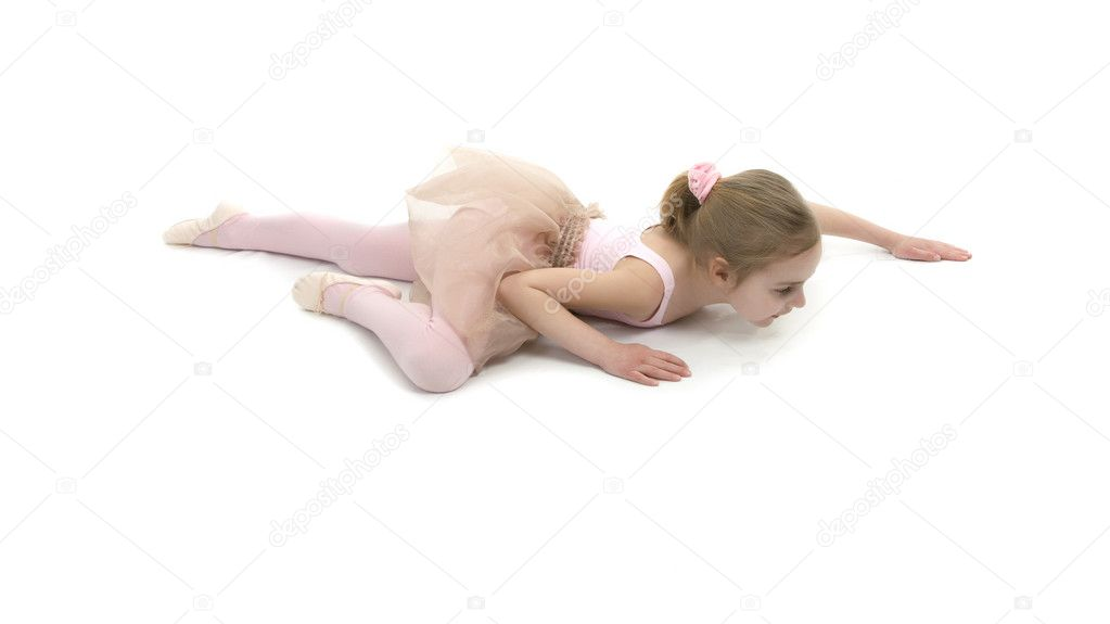 Little girl showing her balet school exersise  Stock Photo #5575595