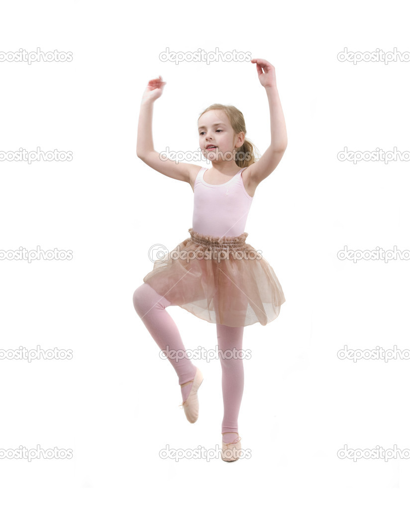 Little girl showing her balet school exersise — Stock Photo #5575597