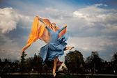 Fluing ballerina — Stock Photo
