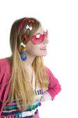 Nastolatek w warów różowy suun — Zdjęcie stockowe