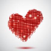 Red heart — Stockvektor