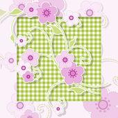 Pink flowers — Stock Vector