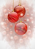 Red Christmas balls — ストックベクタ