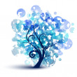 Blue tree — Stock Vector