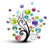 Bubble tree — Stock Vector