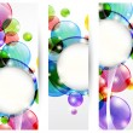 Header bubbles — Stock Vector