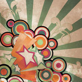 ビンテージ星 — ストックベクタ