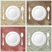 Table set — Stock Vector